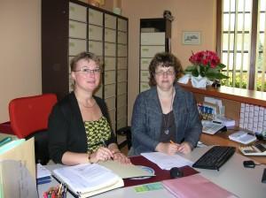 Christine Doré et Valéry Noël Acceuil et Secrétariat de la mairie
