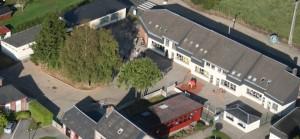 vue aérienne de l'école - Gilles Roger photographe aérien